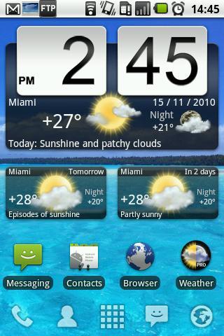 Скачать Animated Weather Widget, Clock для Андроид