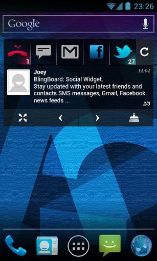 Скачать BlingBoard: Социальная Widget для Андроид