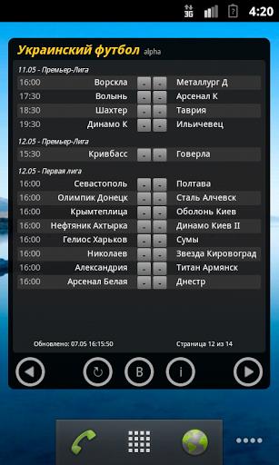 Скачать Чемпионат Украины по футболу для Андроид