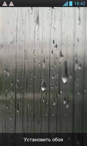 Скачать Дождь на стекле / Rain on the glass для Андроид