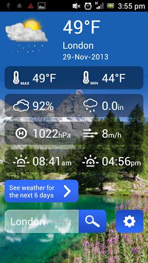 Скачать DreamWeather — погода для Андроид