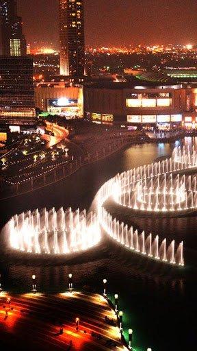 Скачать Дубай ночью Живые Обои для Андроид