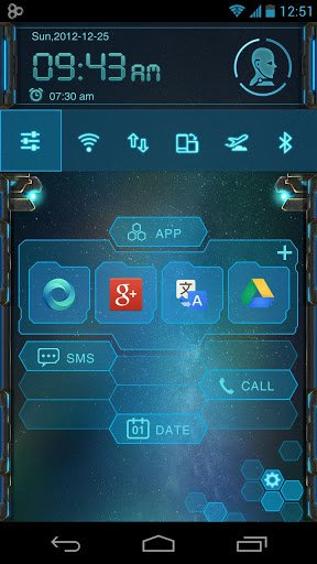 Скачать EVA Toucher Theme GO Launcher для Андроид