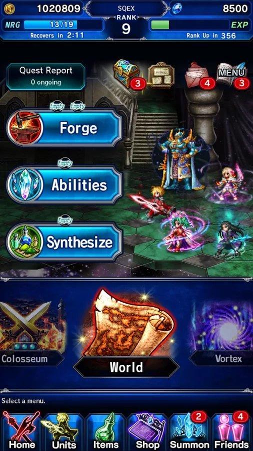 Скачать Final fantasy: Brave Exvius для Андроид