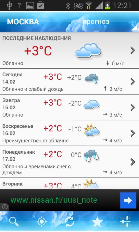 Скачать Foreca Weather для Андроид