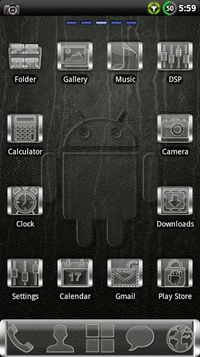 Скачать GLASS GO Launcher EX Theme для Андроид