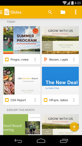 Скачать Google Презентации для Андроид