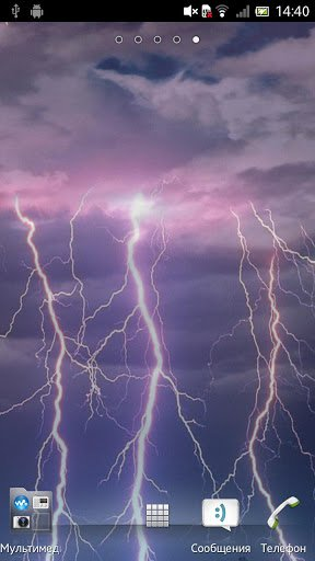 Скачать Гроза Живые обои / Thunderstorm LWP для Андроид