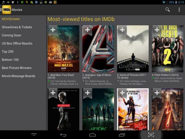 Скачать IMDb Movies TV для Андроид