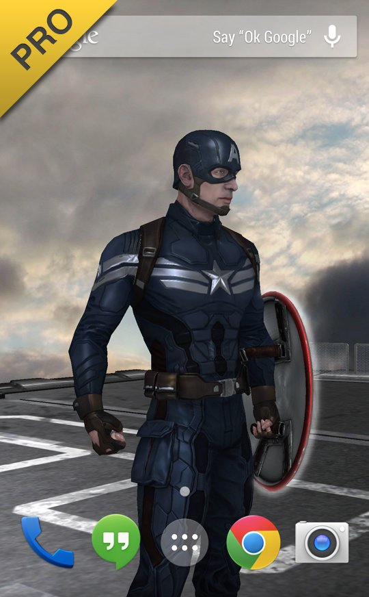 Скачать Капитан Америка LWP для Андроид