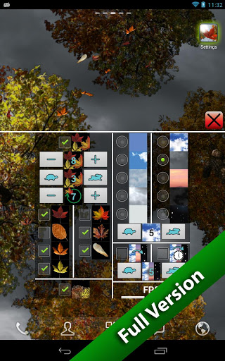 Скачать Листопад — тная версия / Falling Leaves Free Wallpaper для Андроид