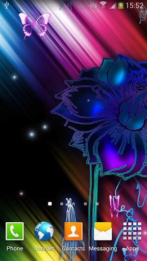 Скачать Неоновые Бабочки Живые Обои / Neon Butterfly Live Wallpaper для Андроид
