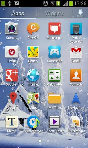 Скачать Падающие снежинки живые обои / Winter nature LWP для Андроид