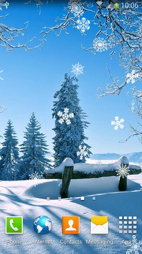 Скачать Падающий Снег Живые Обои для Андроид