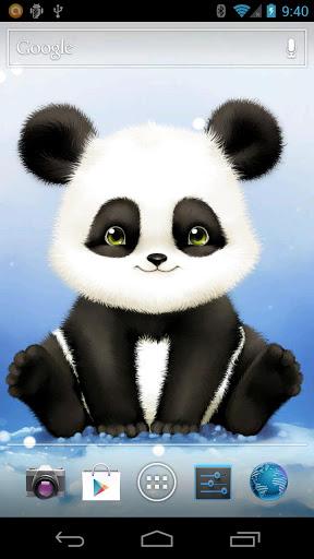 Скачать Panda Bobble Head обои для Андроид