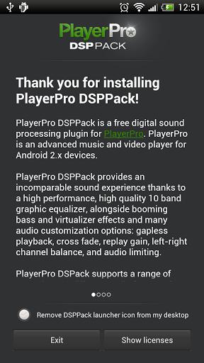 Скачать PlayerPro DSP pack для Андроид