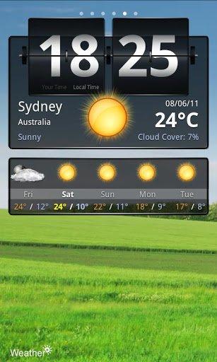 Скачать Погода бесплатно / Weather + для Андроид