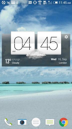 Скачать Погода и часы стиль HTC Sense для Андроид