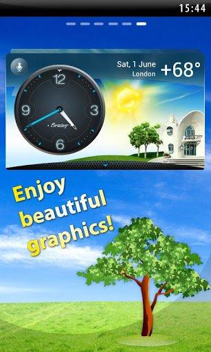 Скачать Погода на экране, Виджет, Часы для Андроид