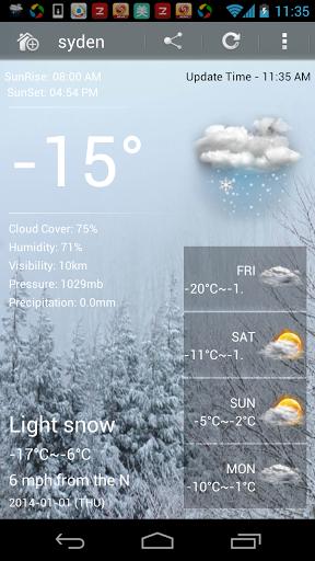 Скачать Погода Окончательный для Андроид