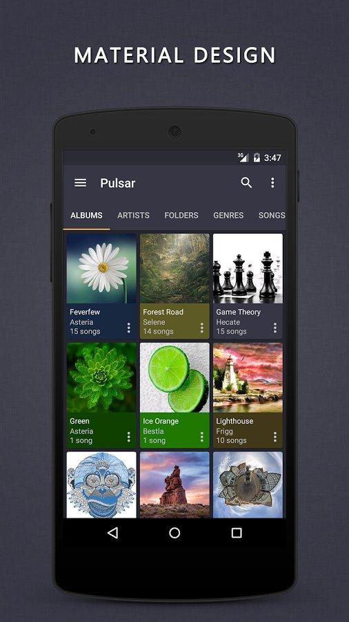 Скачать Проигрыватель Pulsar для Андроид
