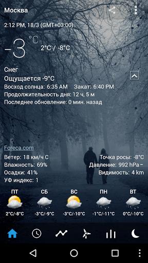 Скачать Прозрачные часы и погода для Андроид