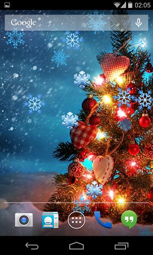 Скачать Рождественские снежинки обои для Андроид