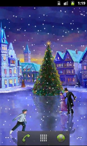 Скачать Рождественский каток / Christmas Rink LWP для Андроид