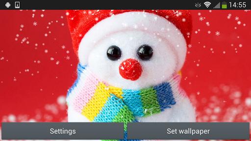 Скачать Рождественский снеговик для Андроид