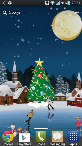 Скачать Рождество Каток живые обои для Андроид