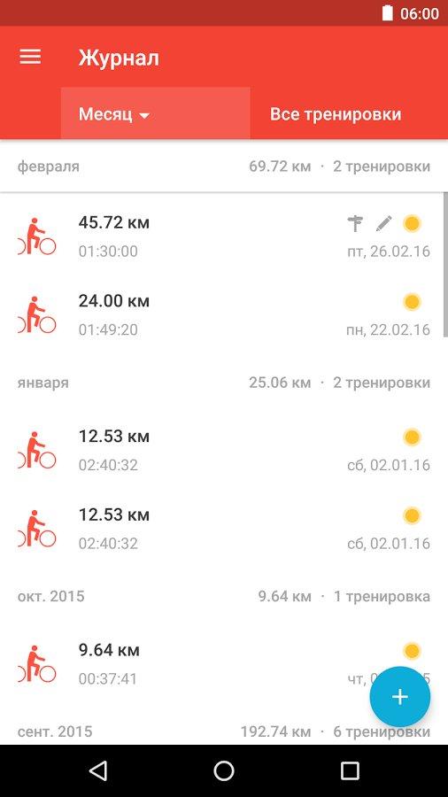 Скачать Runtastic Road Bike для Андроид