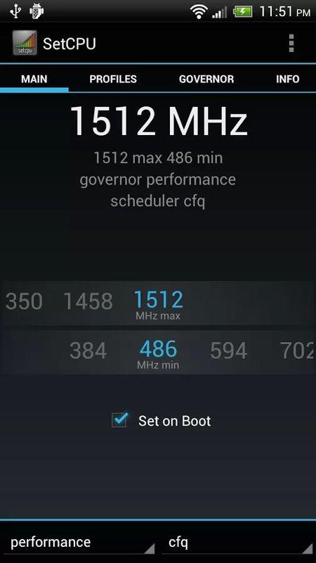 Скачать SetCPU для Андроид