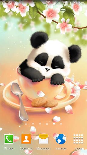 Скачать Sleepy обои Panda для Андроид