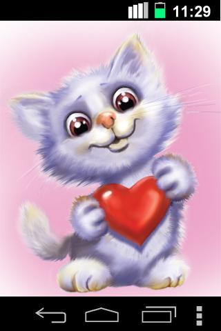 Скачать Смешная кошка живые обои / Funny Cute Cat LWP для Андроид