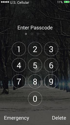 Скачать Снег Блокировка экрана для Андроид