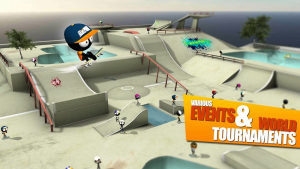 Скачать Stickman Skate Battle для Андроид