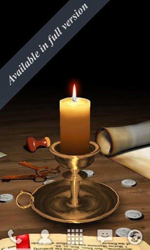 Скачать Тающая свеча 3D / 3D Melting Candle Free для Андроид