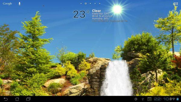 Скачать True Weather, Waterfalls для Андроид