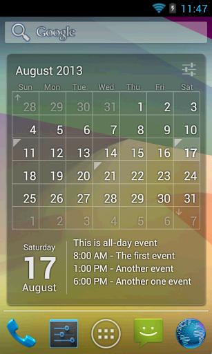 Скачать Виджет Календарь для Андроид