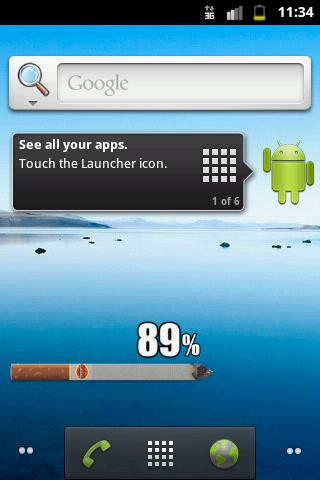 Скачать Виджет сигареты батареи / Cigarette Battery Widget для Андроид
