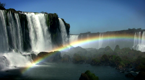 Скачать Водопад и Радуга живые обои для Андроид