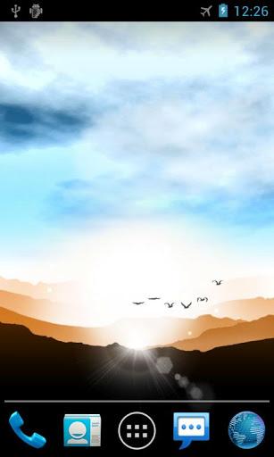 Скачать Восход Живые Обои Sunrise для Андроид