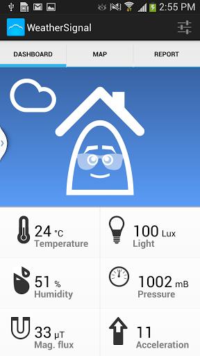 Скачать WeatherSignal климат датчики для Андроид
