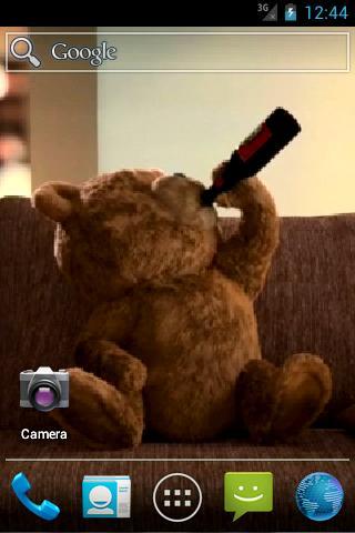 Скачать Живые обои с медведем / Ted Live Wallpaper для Андроид
