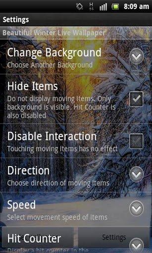 Скачать Зима Снег Live Wallpaper для Андроид