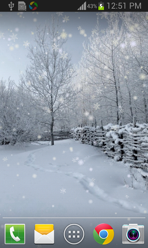 Скачать Зимний снег Live Wallpaper Pro для Андроид