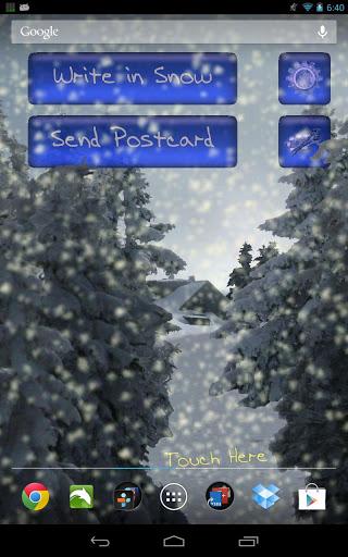 Скачать Зимний Снегопад Живые Обои / Winter Snowfall LWP для Андроид